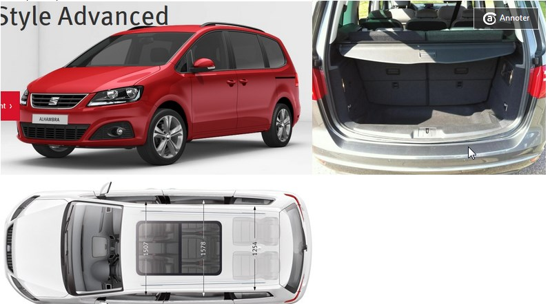 Seat Alhambra - 7 places