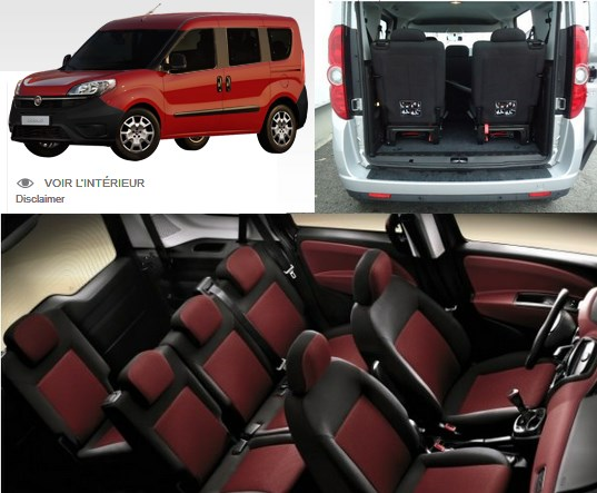Fiat Doblo - 7 places