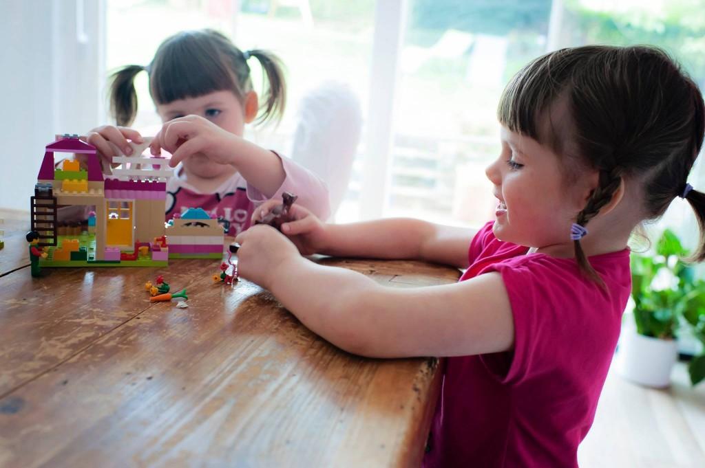 La première boite de LEGO des filles