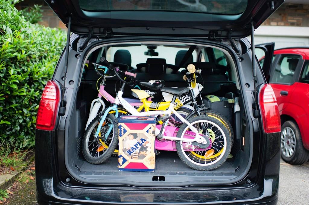 Peugeot 5008 - Valises + Vélos