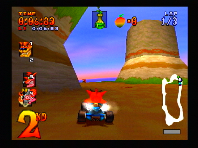 CTR : Crash Team Racing - Playstation (Naughty Dog, Sony, 1999)