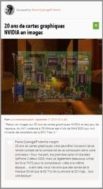 20 ans de cartes graphiques NVIDIA