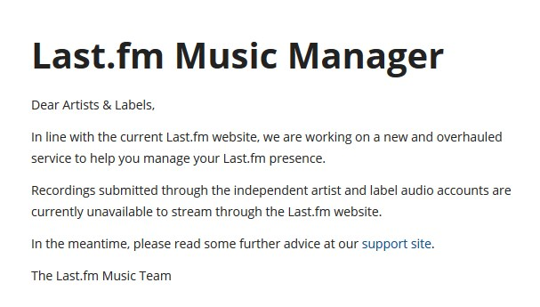 Last FM - 2015 - c'est fini