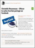 Scoop : Effacer le cache d'un lien partagé sur Facebook