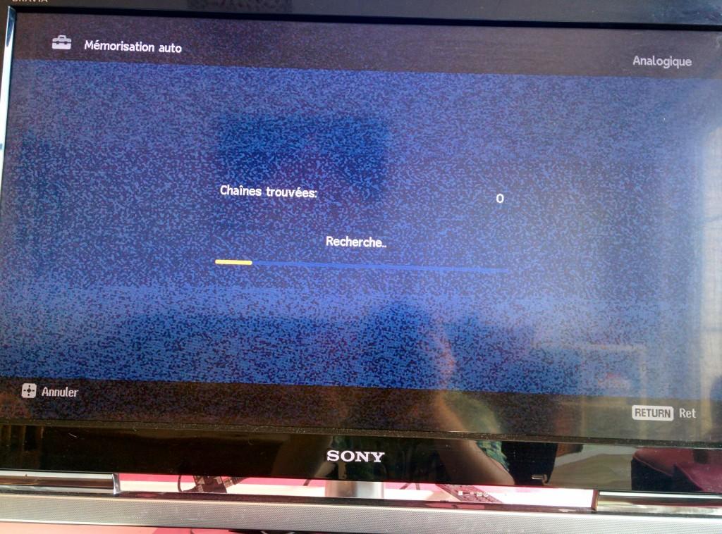 Recherche de chaine Analogique - TV Sony Bravia