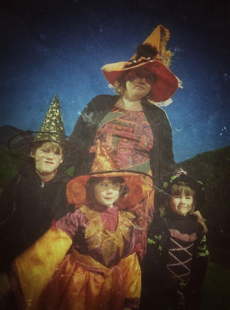 Notre famille en mode Halloween