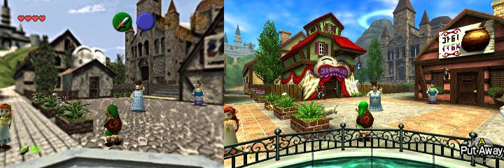 Hyrule N64 VS 3DS