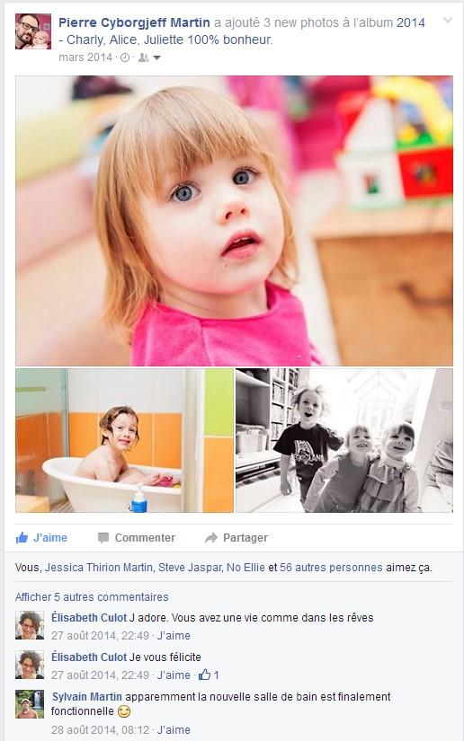 Facebook - Mars 2014