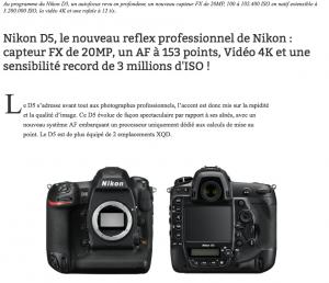 Nikon D5 - PhotoGalerie