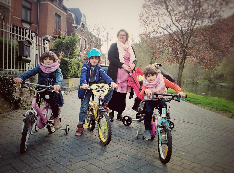 La famille Martin en Vélo
