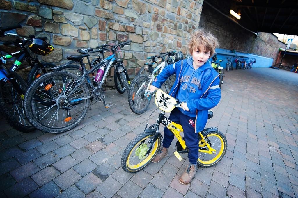 Charly a vélo