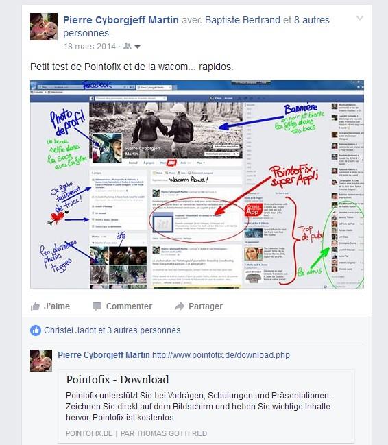 Pointofix - Mars 2014 - Facebook