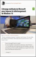 Scoop : L'étrange méthode de Microsoft pour imposer le téléchargement de Windows 10