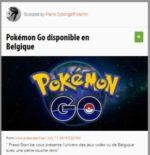 Pokemon Go débarque en Belgique