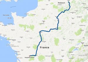 Vers les Charentes - 900km