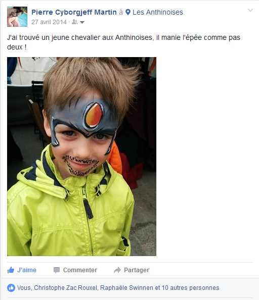 Facebook - avril 2014 - Charly - les anthinoises