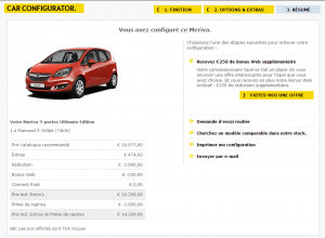 Opel Meriva - Offre en ligne
