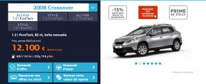 Peugeot 2008 - Offre de prix en ligne