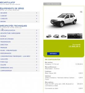 Dacia Duster - Premier prix