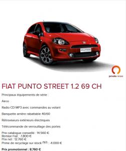 Fiat Punto - Promo 2016