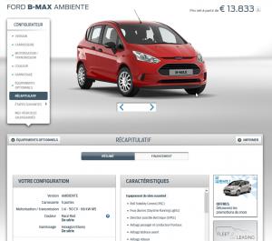 Ford B-Max - Configurateur en ligne 2016