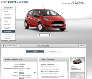 Ford Fiesta - Offre en ligne - 2016