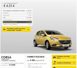 Opel Corsa 2016 - Configurateur