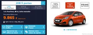 Peugeot 208 - Offre 2016