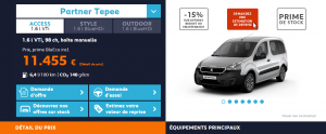 Peugeot Partner - Offre 2016