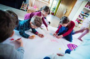 Alice & Juliette - 5 ans - Une grande fresque