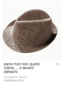 Un nouveau chapeau