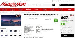 SONY KD43X8305 - Promo Mediamarkt