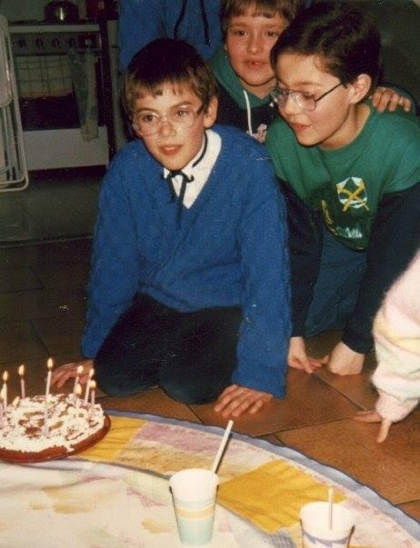1988, 10 ans. Avec mes amis dont Bruno et Vivien