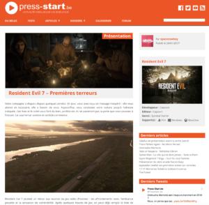 Resident Evil 7 – Premières terreurs