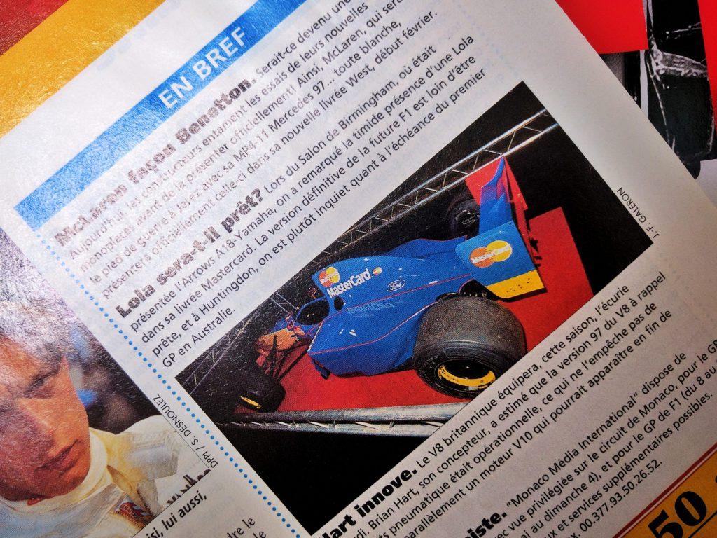 1997 - AutoHebdo - Lola Ford - MasterCard