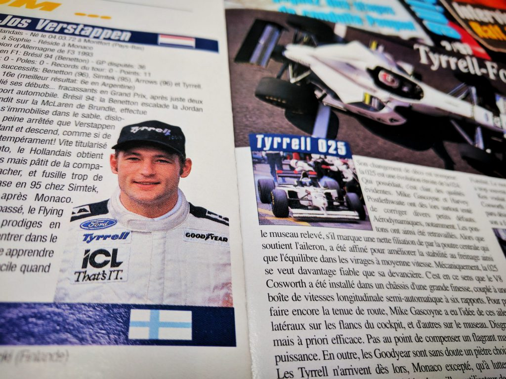Grand Prix Magasine - Tyrrell - Jos Verstappen - 1997 - Formule 1