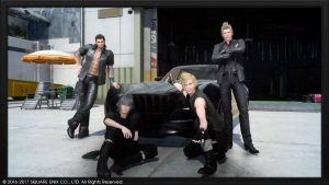 Final Fantasy XV - La bande de pots autour de la Regalia