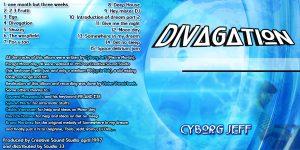 Pochette de la 3° édition de l'album Divagation de Cyborg Jeff, 2003
