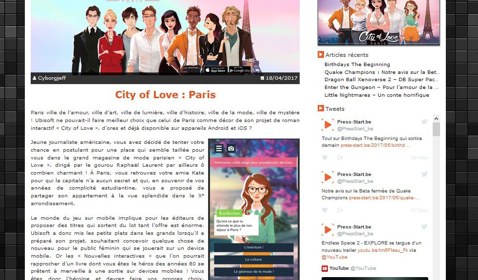 Press-Start - City of Love : Paris