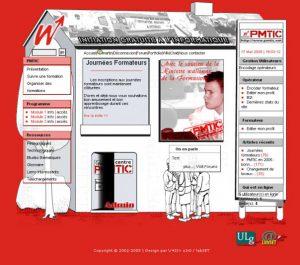 Les projets fous en XOOPS dont le site PMTIC en 2005