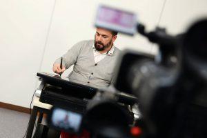 Jean-François Van de Poël - Les premières formations Multimédia dans le studio. eCampus - IFRES - ULg (2014)