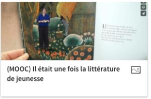 Le MOOC littérature Jeunesse (2016)