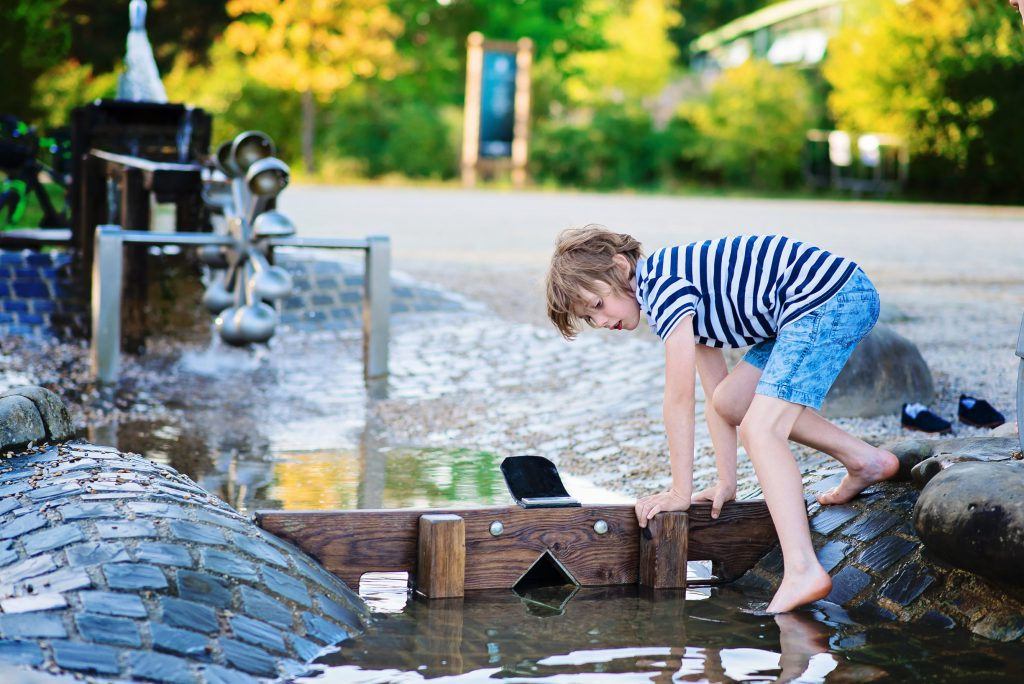 Les jeux d'eau - Center Park - Lac d'Ailette