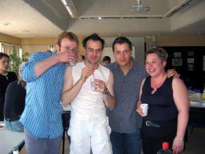 L'IT team du LabSET en 2004 - Vincent Martin - Pierre Martin - Stéphane Delsemme - Béatrice Lecomte