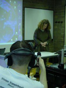 Première captation vidéo avec Chantal Dupont pour le projet Formasup - LabSET (2002)