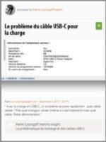Scoop : Le problème du câble USB-C pour la charge