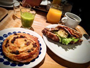 Petit déjeuner à l'Anteroom Hotel de Kyoto