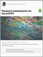 Scoop : Pourquoi et comment passer son site en HTTPS