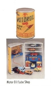 Le bidon d'huile - garage - Micro Machines, 1989