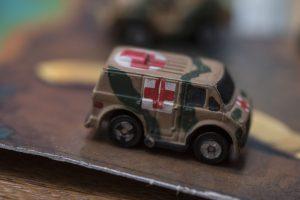 '70s Chevy Van - Military 1 - Micro Machine, 1989